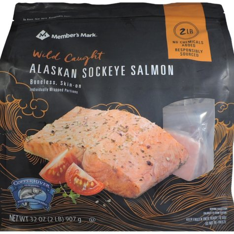 Member's Mark Wild Caught Alaskan Sockeye Salmon (2 lbs.)