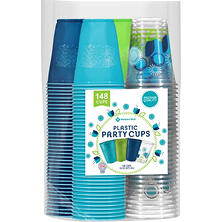 Members Mark Premium Quality Cups, 148ct. (117 Solid Color Cups, 31 Printed Cups)
