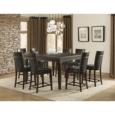 Superbe Memberu0027s Mark Madison 9 Piece Counter Height Dining Set