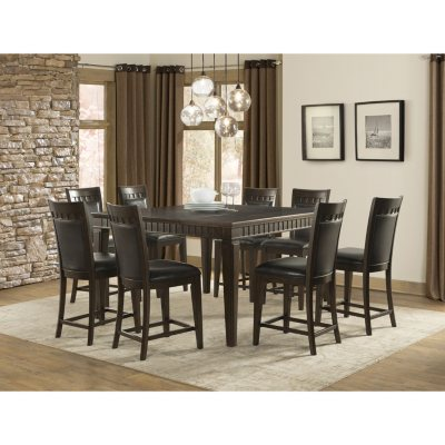 Memberu0027s Mark Madison 9-Piece Counter-Height Dining Set  sc 1 st  Samu0027s Club : cheap dining room tables sets - pezcame.com