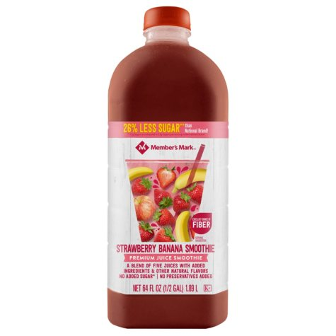 Member's Mark Reduced Sugar Strawberry-Banana Smoothie (64 oz.)