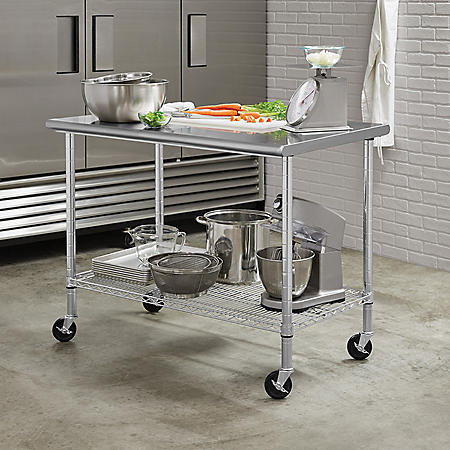 "Member's Mark Commercial Stainless Steel Worktable, 48"" W x 30"" D x 37""H"