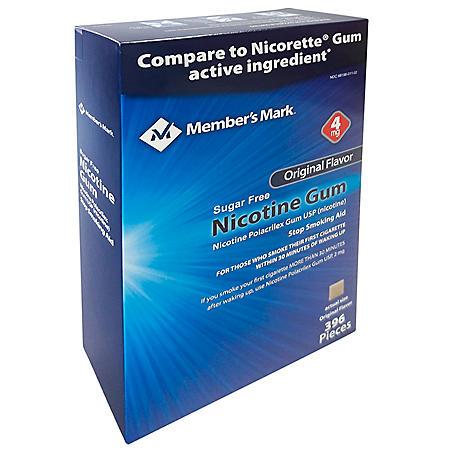 Member's Mark 4mg Nicotine Gum, Original Flavor (396 ct.)