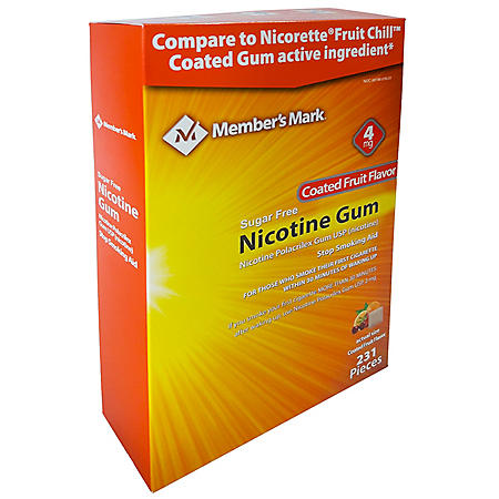 Member's Mark 4mg Nicotine Gum, Coated Fruit Flavor (231 ct.)