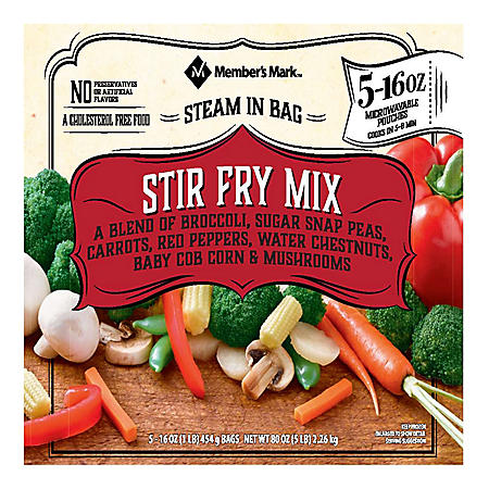 Member's Mark Steam-in-Bag Stir Fry Mix (16 oz. pouch, 5 ct.)