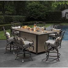 Member's Mark Edenderry Fire 7-Piece Bar Height Dining Set