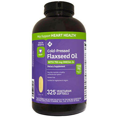 Member S Mark 1300 Mg Flaxseed Oil Veggie Softgels 325