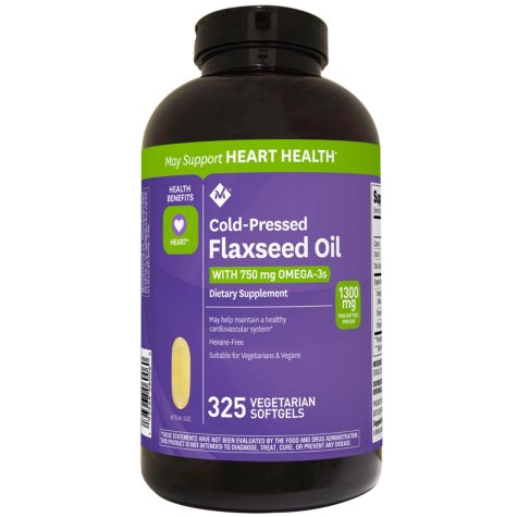 Member's Mark 1300 mg Flaxseed Oil Veggie Softgels (325 ct.)