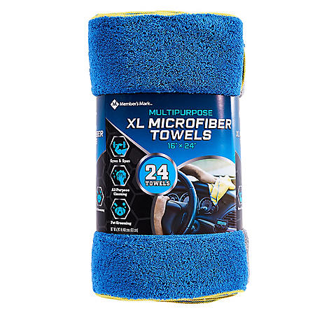 Member's Mark Microfiber Towels (24 pk., 3 Colors)
