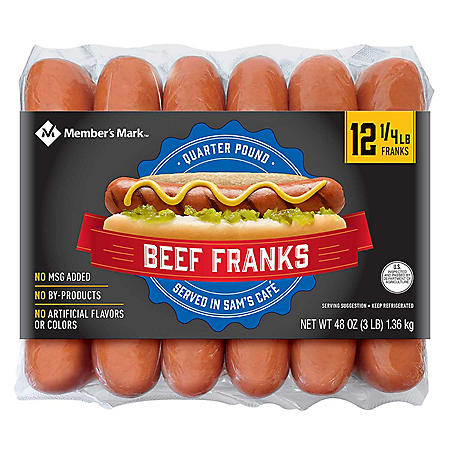Member's Mark Beef Franks (3 lbs., 12 ct.)