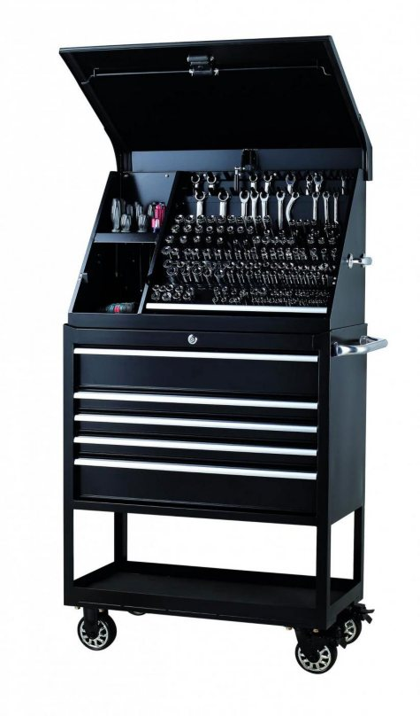 "Member's Mark 36"" Triangle Toolbox & 5-Drawer Service Cart Combination"