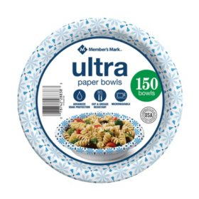 Member's Mark Printed Ultra Paper Bowls (20 oz.,150 ct.)