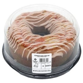 Member's Mark Strawberry Marble Creme Bundt Cake (44 oz.)