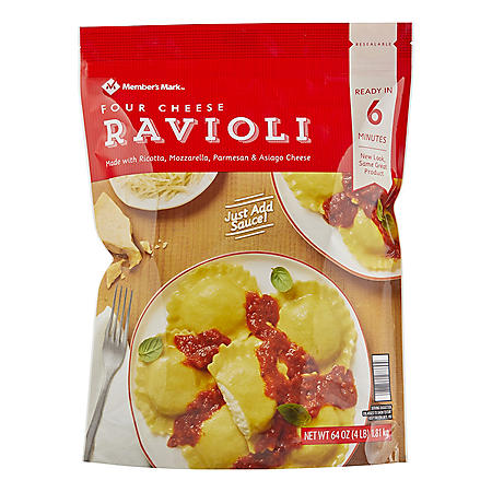 Member's Mark Four Cheese Ravioli, Frozen (64 oz.)