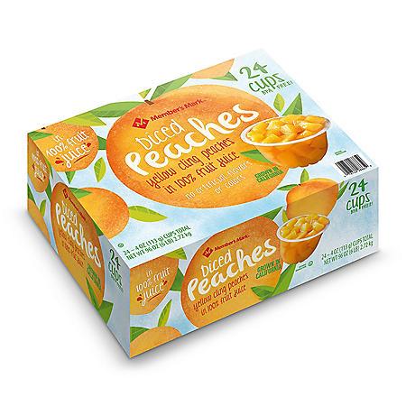 Member's Mark Diced Peaches in 100% Fruit Juice (4 oz., 24 ct.)