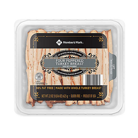 Member's Mark Four Pepper Turkey Breast, Sliced (22 oz.)