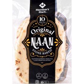 Member's Mark Original Stone Baked Naan (35.2 oz., 10 ct.)