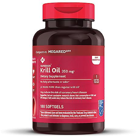 Member's Mark 100% Pure Omega-3 Krill Oil, 350 mg (180 ct.)
