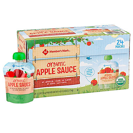 Member's Mark Organic Applesauce Pouches (3.2 oz., 24 ct.)