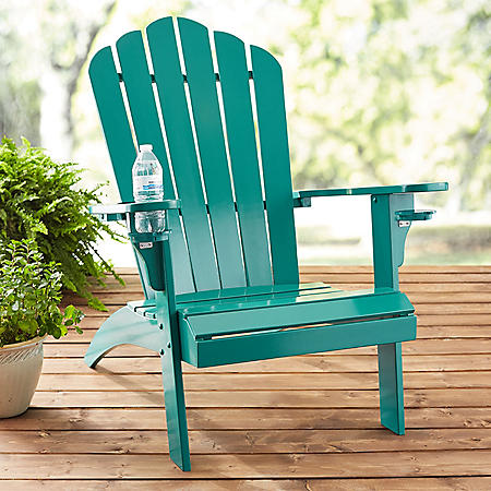 Member S Mark Painted Adirondack Chair With Drink Holder Various Colors