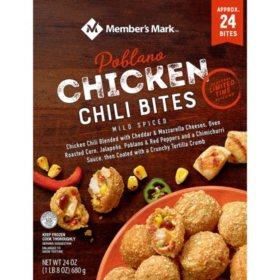 Member's Mark Chicken Poblano Chili Bites, Frozen (24 ct.)