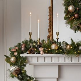 members mark 9 pre lit decorative gold garland