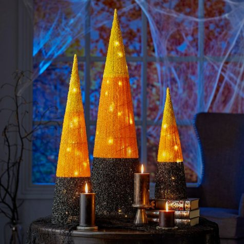 Member's Mark Pre-Lit Candy Corn Trees (Set of 3)