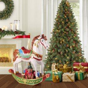 Member's Mark Pre-Lit Christmas Rocking Horse