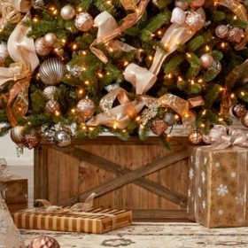 members mark wooden box tree collar - Christmas Decor Without A Tree