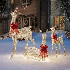 members mark set of 3 deer family - Sams Club Christmas Decorations Outdoor