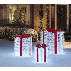 members mark set of 3 crystal bead gift boxes