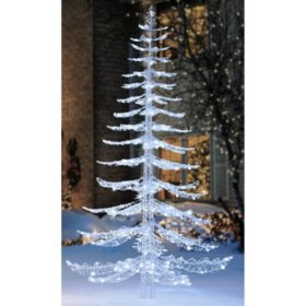 members mark 7 ft cool white crystal iced christmas tree
