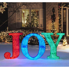 "Member's Mark 32"" Multi-Color JOY Sign"
