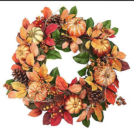 """Member's Mark 26"""" Harvest Wreath"""