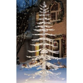 members mark 7 ft warm white crystal iced christmas tree - Sams Club Christmas Decorations Outdoor
