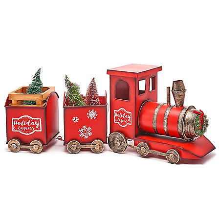 Member's Mark Pre-Lit Holiday Decorative Train (Assorted Colors)