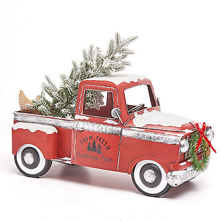 Member S Mark Vintage Metal Truck With Lighted Accents