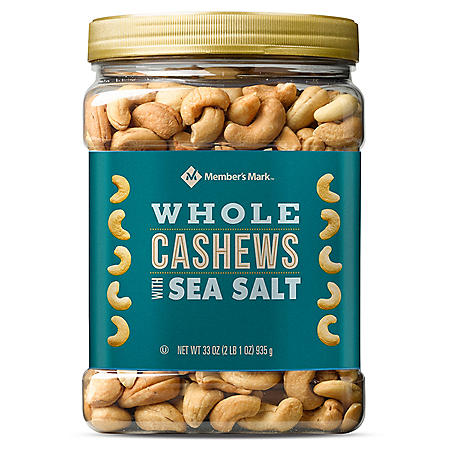 Member's Mark Roasted Whole Cashews with Sea Salt (33 oz.)