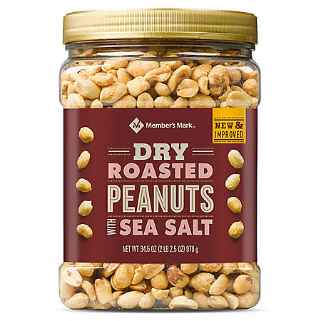 Member's Mark Dry Roasted Peanuts with Sea Salt (34.5 oz.)