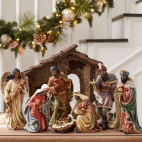 members mark 9 piece nativity set - Sams Christmas Decorations