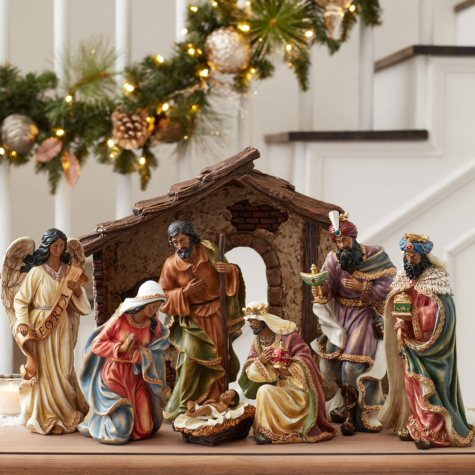 Member's Mark 9-Piece Nativity Set