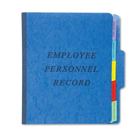 Pendaflex 1/3 Tab PressGuard Vertical Personnel Folder, Blue (Letter)