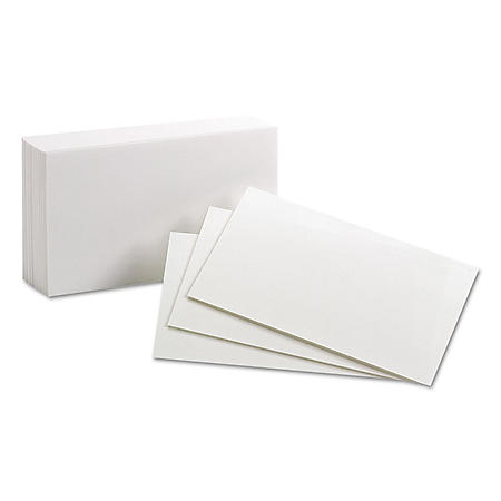 """Oxford - Index Cards, Unruled, 3 x 5"""" - 100 Cards"""