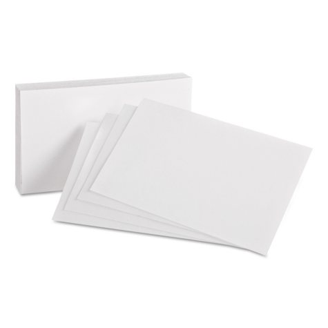 "Oxford - Index Cards, Unruled, 4 x 6"" - 100 Cards"