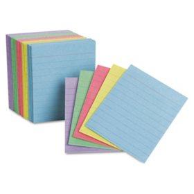 "Oxford - Mini Index Cards, Ruled, 3 x 2-1/2"", Rainbow Colors - 200 Cards"
