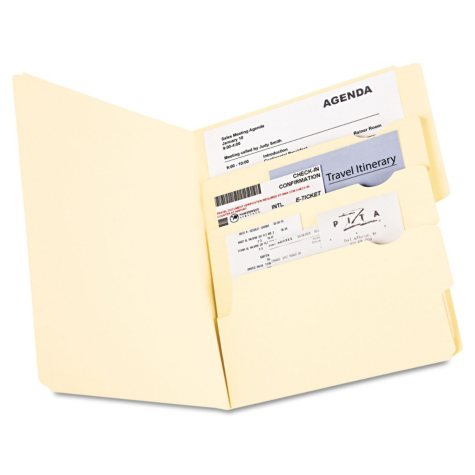 Pendaflex Divide It Up Multi-Section File Folders, Manila (Letter, 24 ct.)