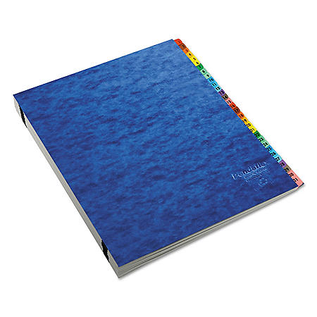 Pendaflex Acrylic-Coated PressGuard Expandable Alphabetical Index Desk File, Blue (Letter)