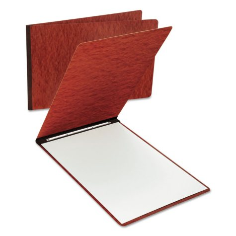 """Oxford - Pressboard Report Cover, 8 1/2"""", 2 Prong Fastener, 11 x 17, 3"""" Capacity -  Red"""