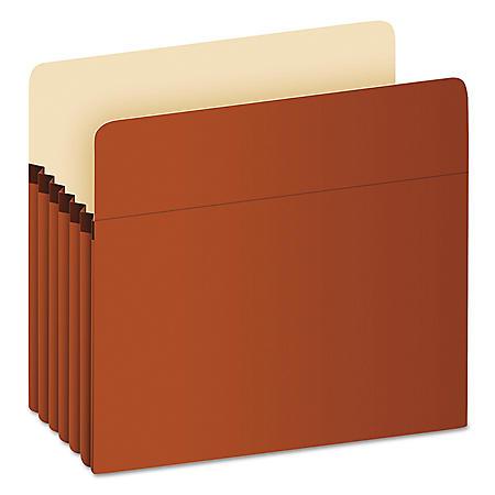 """Pendaflex 5 1/4"""" Expansion File Pocket, Manila/Red Fiber (Letter)"""