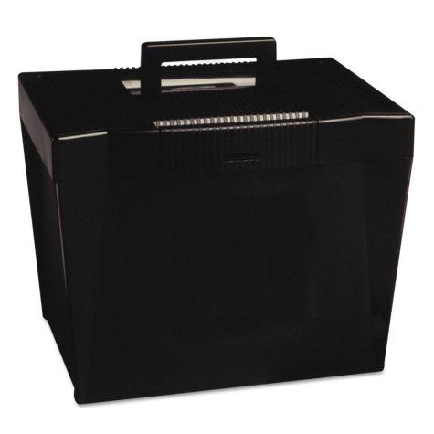 Pendaflex Plastic Portable File Storage Box, Black (Letter)